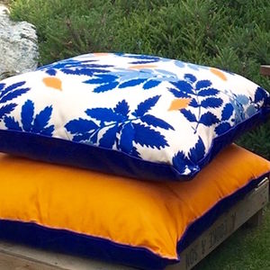 Extra Large Garden Floor Cushion - bedroom