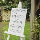 Whitewash Wedding Welcome Sign