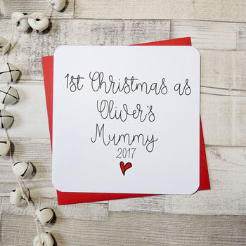 1st Christmas As A Mummy Personalised Script Card