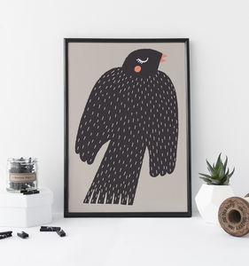 Bird Children's Nursery Print - animals & wildlife