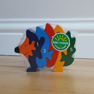 Wooden Hedgehog Jigsaw - traditional toys & games