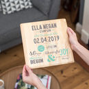 Personalised Christening Print On Wood