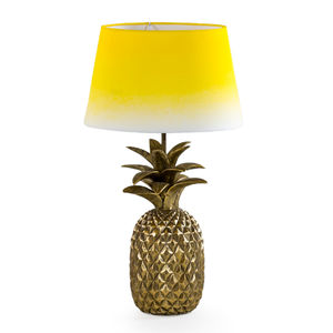 Pineapple Lamp Base In Antique Gold
