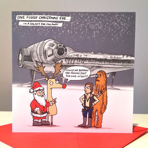 Star Wars Millennium Falcon Christmas Cards - cards & wrap