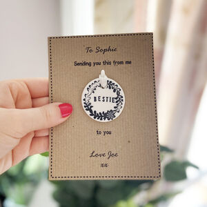 Bestie Porcelain Token With Personalised Card