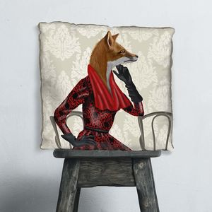 Lady Fox Decorative Cushion - bedroom