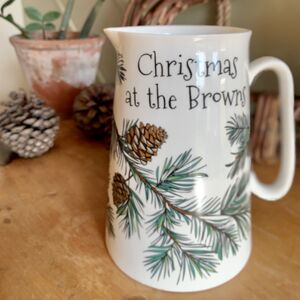 Personalised Pine Cone Flower Jug