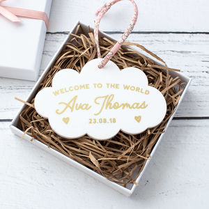 New Baby Liberty Cloud Keepsake Decoration - new baby gifts