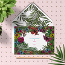 Tropical Palm Leaf Diy Wedding Invitation Set