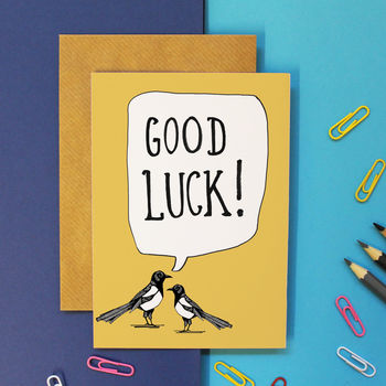 Magpie Good Luck Card