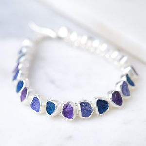 Rough Blue Gemstone Bracelet