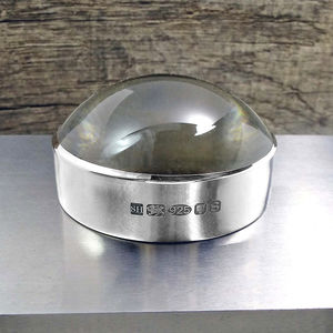 Silver Magnifying Paperweight - desk accessories