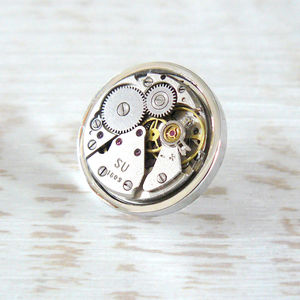 Watch Movement Tie Pin/Lapel Badge