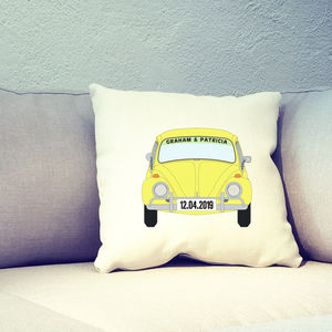 Personalised Beetle Car Cushion Cover - personalised cushions