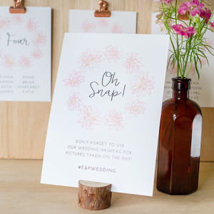 Cotton Candy Wedding Table Sign