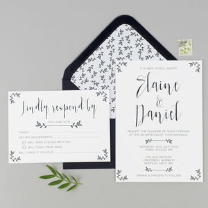Modest Love Wedding Invitation And RSVP - winter styling
