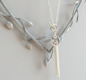 Sentiment Disc 'Serenity And Hope' Tassel Necklace - necklaces & pendants