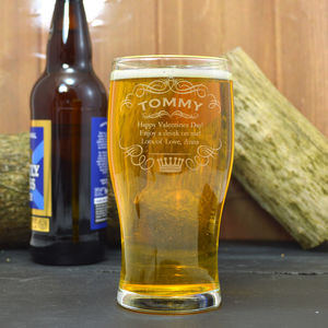 Engraved Pint Glass Crown Design - view all new