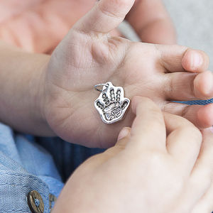 Personalised Sculpted Silver Hand Or Foot Print Charm