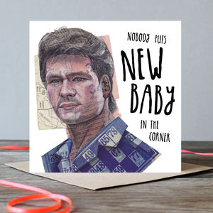 Patrick Swayze New Baby Card