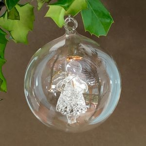 Christmas Angel Gabriel Glass Bauble