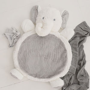 Personalised Elephant Playmat White - gifts for babies