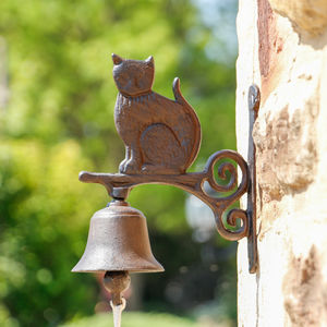 Cast Iron Cat Door Bell - house numbers & doorbells