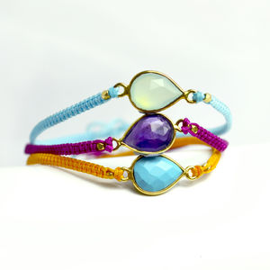 Nazara Teardrop Gemstone Friendship Bracelet