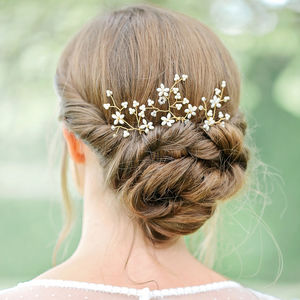 Bridal Hair Pins Wild Blossom - bridal hairpieces