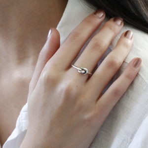 Silver Friendship Knot Ring