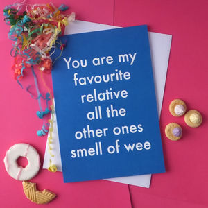 Favourite Relative Greetings Card
