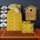 Orla Kiely Warmers Gift Set In Linear Stem Dandelion