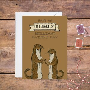 Woodland Otter Father's Day Card