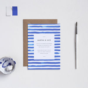 Breton Stripe Wedding Invitations