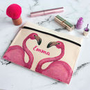 Personalised Flamingo Make Up Bag Or Pouch
