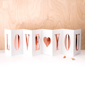 You're My Valentine; Rose Gold Foil Love You Card