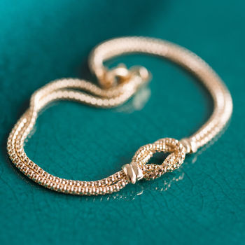 Gold 'Tying The Knot' Bracelet *