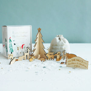 Personalised Woodland Scene Advent Calendar