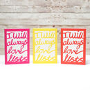 I Will Always Love Lists Notebook 3 colours