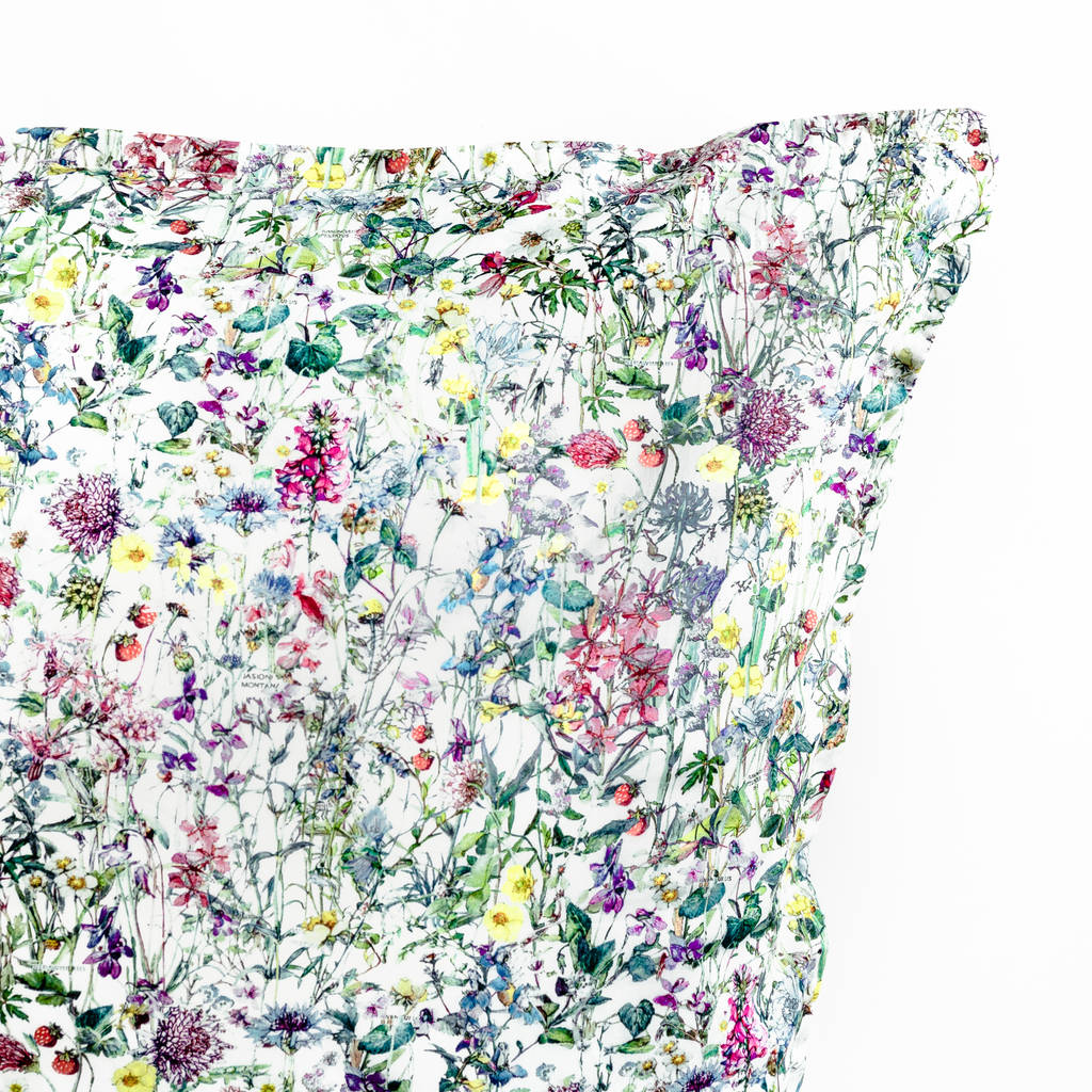 Liberty Print Pillowcase In Wild Flowers