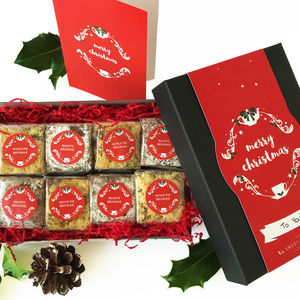 Christmas Luxury Gluten Free Brownie Gift Box - gluten free food gifts