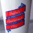 Personalised Ribbon Travel Cup