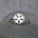 Snowflake Ring Handmade In Solid Sterling Silver