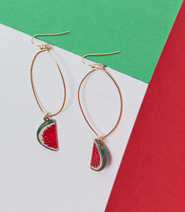Watermelon Drop Earrings - earrings