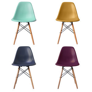Coloured Dsw Eames Style Wood Base Chair, 20+ Colours - furniture