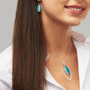 Murano Glass Ellipse Pendant And Earring Set