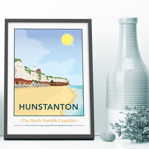Hunstanton, North Norfolk Print - new in prints & art