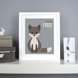 Personalised Fox Nursery Print