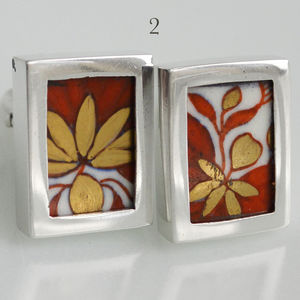Minton Sterling Silver Cufflinks - men's accessories