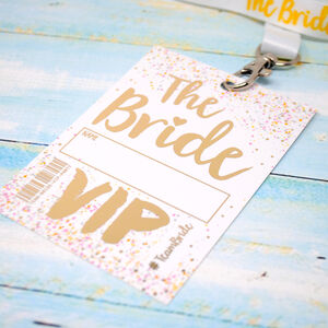 Bride To Be Festival Hen Party Vip Pass Lanyard